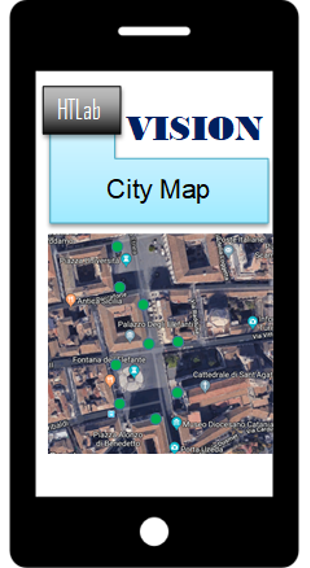 Figure 2. Graphic User Interface of the VISION App
